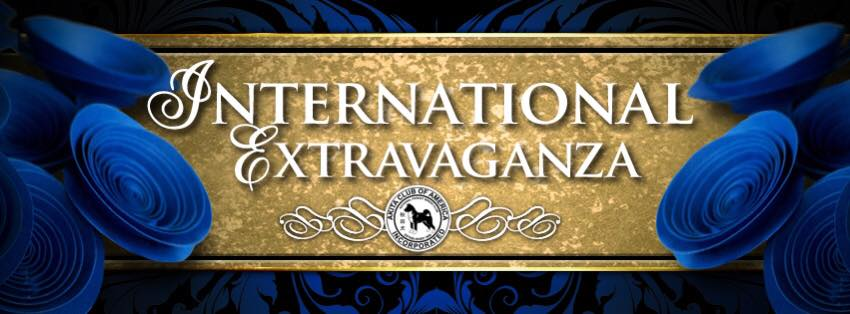 Logo for International Extravaganza for ACA National Specialty.